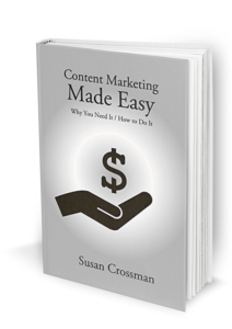 Content Marketing Made Easy book cover featuring a hand holding a dollar sign