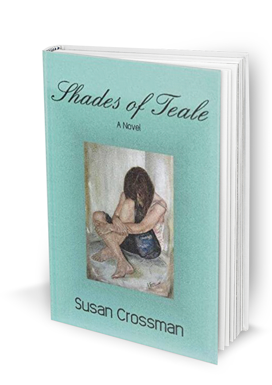 Shades of Teale book cover showing a young woman curled in on herself